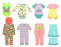 Clothes for little baby girls. Set of clothes for little baby girls Stock Images