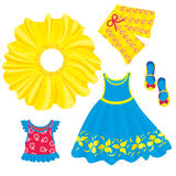 Clothes for little girls Stock Images