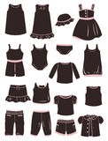 Clothes for little girls Stock Photos