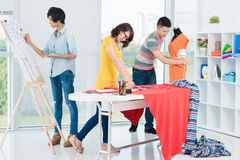 Clothes making Stock Image