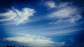 Clothes making various shapes. Various cloud shapes with Long Streaking Stock Image