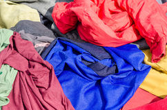 Clothes on a market stall Stock Images