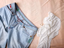 Clothes mess Royalty Free Stock Photos