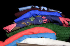 Clothes mixed colors Royalty Free Stock Images