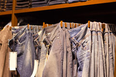 Clothes in the modern retail store Royalty Free Stock Photography