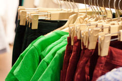 Clothes in the modern retail store Stock Photography