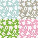 Clothes for newborn baby.Seamless pattern set Royalty Free Stock Image