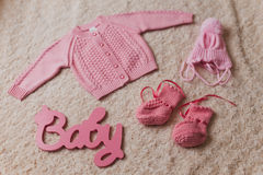 Clothes for newborn Royalty Free Stock Image