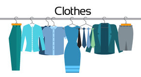Clothes Official Business Collection Show Room Shop Flat Stock Photo