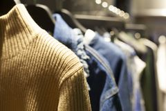 Free Clothes On Clothing Rack Royalty Free Stock Photo - 100737425