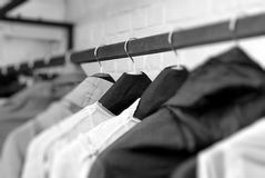 Clothes On Racks Stock Image
