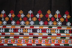 THE CLOTHES AND PANTS HAND MADE BY WOMAN MIEN HILL TRIBE. Stock Photo
