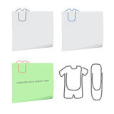 Clothes paper clip Royalty Free Stock Photos