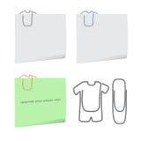 Clothes paper clip Royalty Free Stock Photos