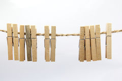 Clothes peg. Hang on clothesline royalty free stock photo