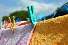 Clothes peg detail Royalty Free Stock Photos