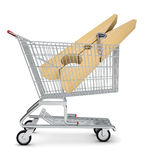Clothes peg in shopping cart Stock Image