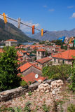 Clothes-peg in small town Kotor Montenegro Royalty Free Stock Photos