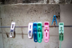 Clothes peg with soft light. An Clothes peg with soft light royalty free stock photography
