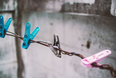 Clothes peg with soft light. An Clothes peg with soft light stock images