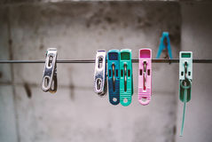 Clothes peg with soft light. An Clothes peg with soft light stock image