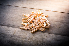 Clothes peg on wooden background. Group of Clothes peg on wooden background stock photography