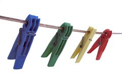 Clothes pegs. Clothes peg with white background royalty free stock photos