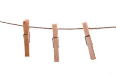 Clothes pegs. Stock Image