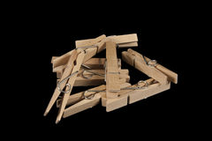 Clothes-pegs Royalty Free Stock Image