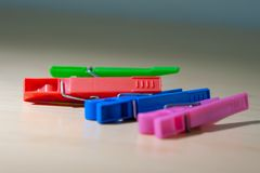 Clothes Pegs closeup royalty free stock photography
