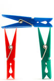 Clothes pegs - clothes pins Royalty Free Stock Image