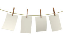 Clothes pin holding sheets Royalty Free Stock Photos