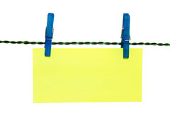 Clothes Pin Note Royalty Free Stock Photo