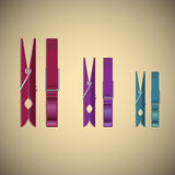 Clothes pin set on gradient background Royalty Free Stock Photography