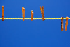 Clothes pins Royalty Free Stock Photo