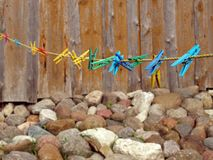 Clothes pins Stock Images