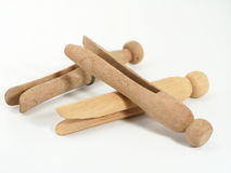 Clothes Pins. A pile of wooden clothes pins Stock Photography
