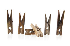 Clothes-pins Stock Photo