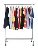 Clothes on a Rack Royalty Free Stock Photography