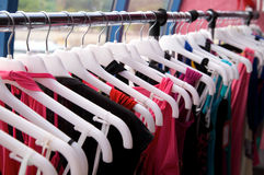 Clothes rack Stock Image