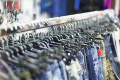 Clothes Rack - Clothing Store Royalty Free Stock Photo