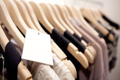 Clothes On a Rack Royalty Free Stock Images