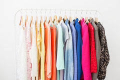 Clothes on the rack Stock Images