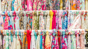 Clothes rack with a selection. Royalty Free Stock Image
