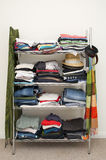 Clothes Rack Wardrobe Stock Photo
