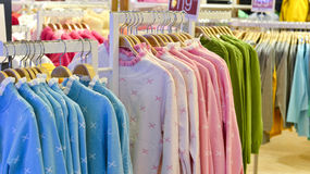 Clothes on racks in Clothing store,clothes store,fashion shop Royalty Free Stock Photography