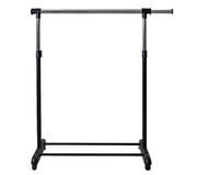 Clothes Rails. Mobile Clothes Racks Garment Rails isolated on white background Royalty Free Stock Image