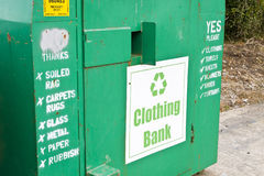 Clothes Recycling royalty free stock image