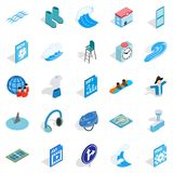 Clothes for rest icons set, isometric style. Clothes for rest icons set. Isometric set of 25 clothes for rest vector icons for web isolated on white background Royalty Free Stock Image