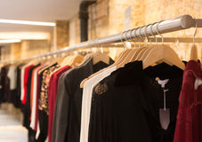 Clothes in a row Stock Images